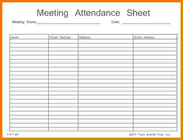 This is a picture of Critical Printable Aa Attendance Sheet