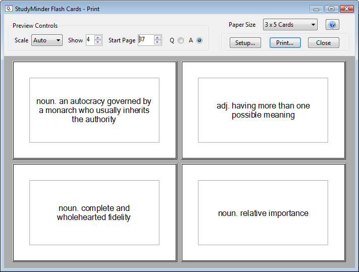 microsoft word note card template