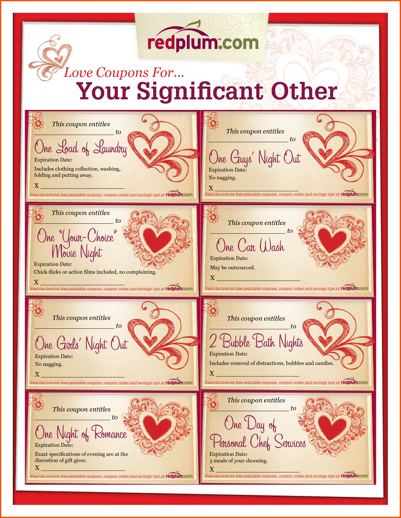 Love Coupon Template Microsoft Word FREE DOWNLOAD